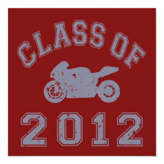 Class Of 2012 Superbike - Grey 2 Card