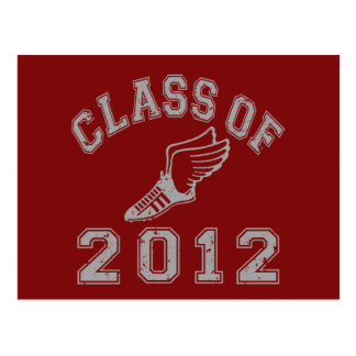 Class Of 2012 Track & Field - Grey 2 Postcard