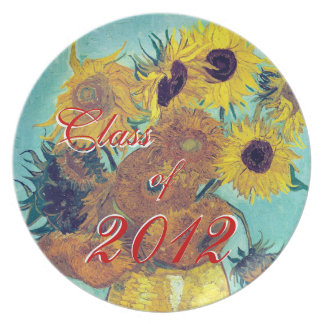 Class of 2012 (Van Gogh's Sunflowers) Party Plate