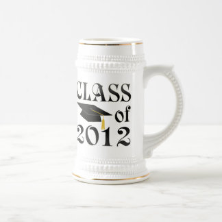 Class of 2012 with black hat beer stein