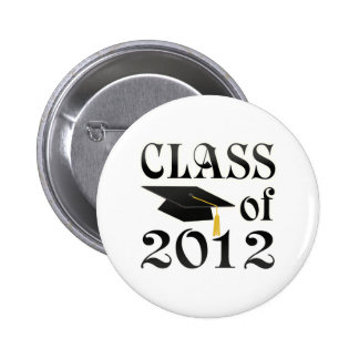 Class of 2012 with black hat pinback button