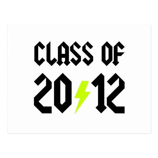 Class Of 2012 Yellow Bolt Postcard
