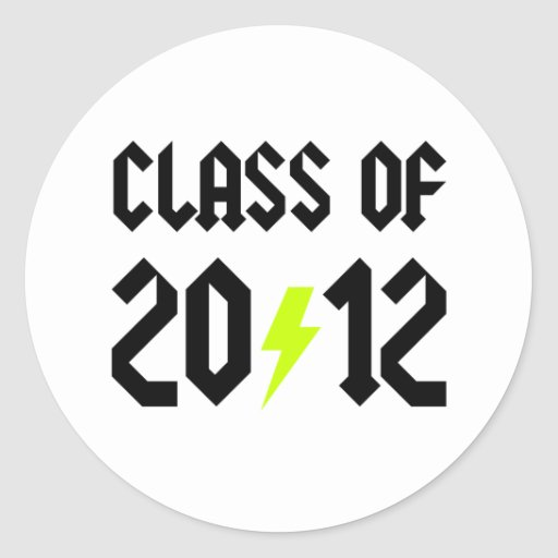 Class Of 2012 Yellow Bolt Stickers