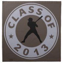 Class Of 2013 Baseball Cloth Napkin