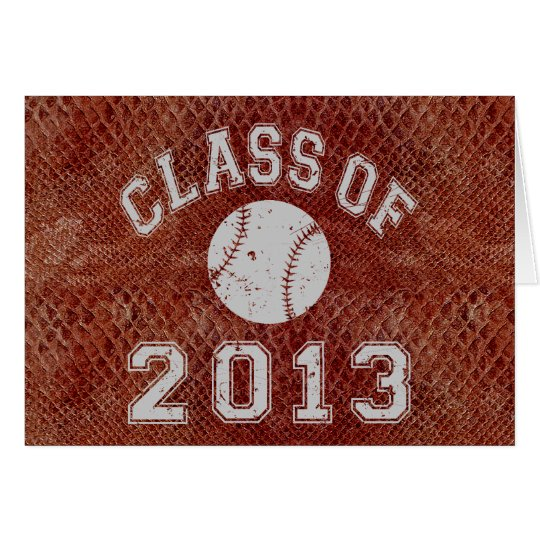 Class Of 2013 Baseball Grey Card