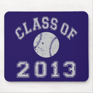 Class Of 2013 Baseball Grey Mouse Pad