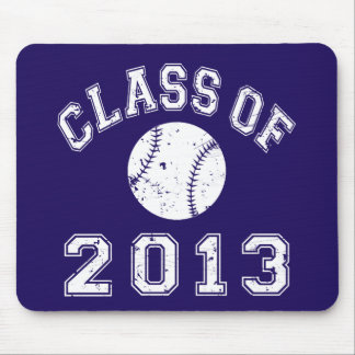 Class Of 2013 Baseball - White Mouse Pad