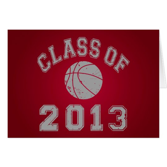 Class Of 2013 Basketball Card