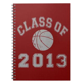 Class Of 2013 Basketball - Grey 2 Notebook