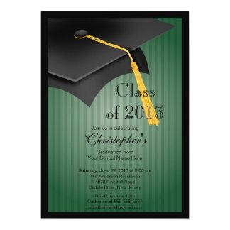 Class of 2013 Black Grad Cap Graduation Party Card