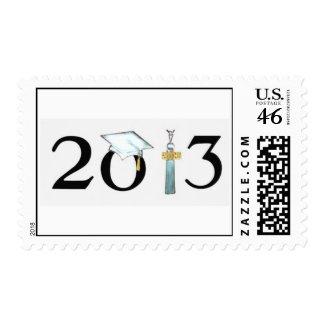 Class of 2013 Black & White Grad Postage Stamp