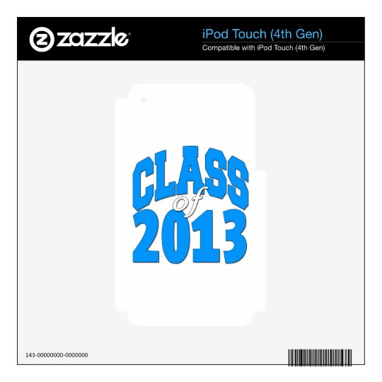 Class of 2013 (blue 2) decals for iPod touch 4G