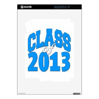 Class of 2013 (blue 2) iPad 2 skin