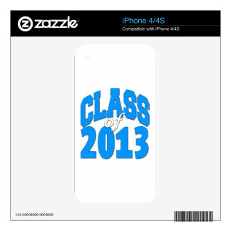 Class of 2013 (blue 2) iPhone 4 decal