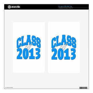 Class of 2013 (blue 2) kindle fire skin