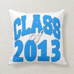 Class of 2013 (blue 2) pillow