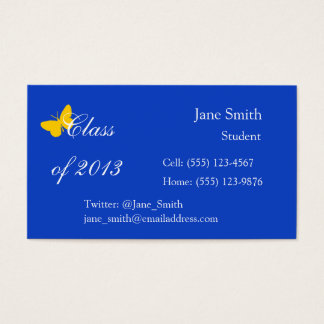 Class of 2013 - Blue and Gold Butterfly Business Card