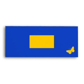 Class of 2013 - Blue and Gold Butterfly Envelope