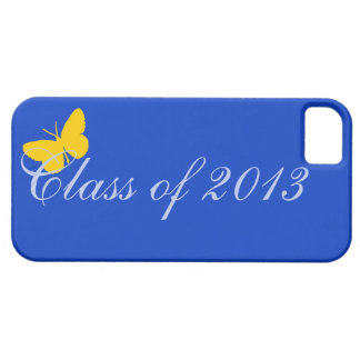 Class of 2013 - Blue and Gold Butterfly iPhone SE/5/5s Case