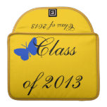 Class of 2013 - Blue and Gold Butterfly MacBook Pro Sleeve