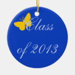 Class of 2013 - Blue and Gold Butterfly Christmas Tree Ornament
