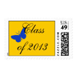 Class of 2013 - Blue and Gold Butterfly Postage Stamps