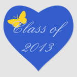 Class of 2013 - Blue and Gold Butterfly Stickers