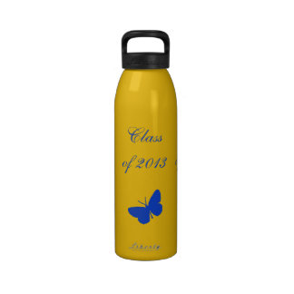 Class of 2013 - Blue and Gold Butterfly Water Bottles