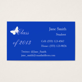 Class of 2013 - Blue Butterfly Business Card