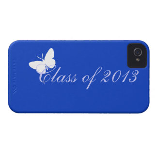 Class of 2013 - Blue Butterfly iPhone 4 Case
