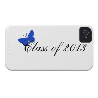 Class of 2013 - Blue Butterfly iPhone 4 Cover