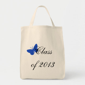 Class of 2013 - Blue Butterfly Tote Bag
