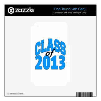 Class of 2013 (blue ) iPod touch 4G skin