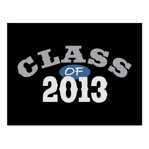 Class Of 2013 Blue Postcards