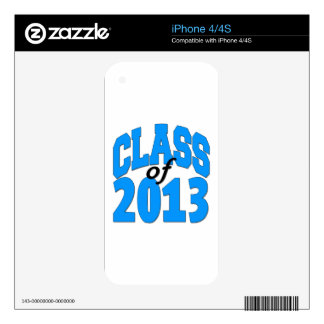 Class of 2013 (blue ) skin for iPhone 4