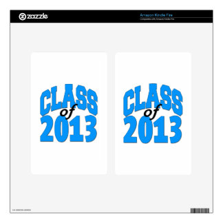 Class of 2013 (blue ) skin for kindle fire