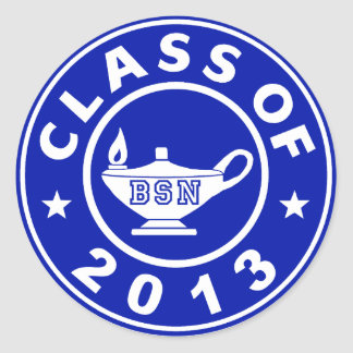 Class Of 2013 BSN Classic Round Sticker