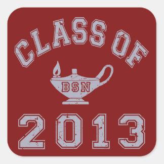 Class Of 2013 BSN - Grey 2 Square Sticker