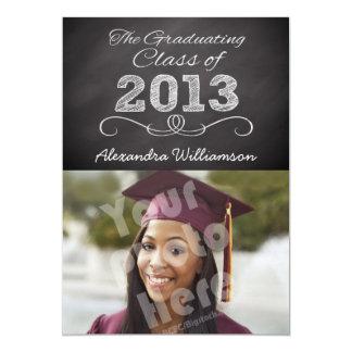 Class of 2013 Chalkboard Style 5x7 Paper Invitation Card