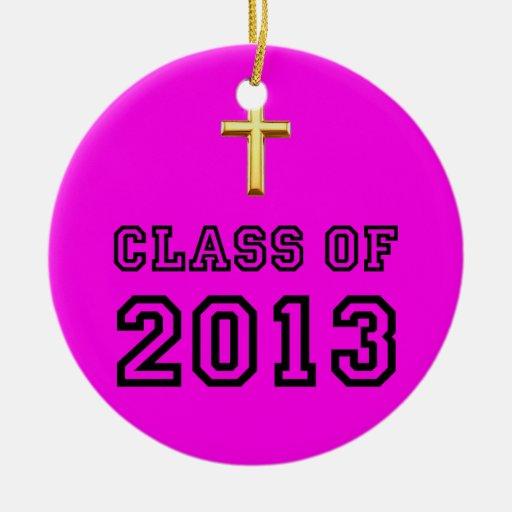 Class Of 2013 Christian Cross - Black 1 Christmas Tree Ornaments
