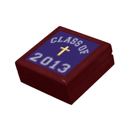 Class Of 2013 Christian Cross - Grey 2 Gift Box