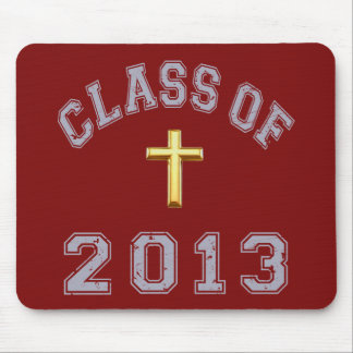 Class Of 2013 Christian Cross - Grey 2 Mouse Pad