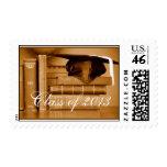 Class of 2013 Classic Books Graduation Postage Stamp