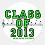 Class Of 2013 Classic Round Sticker