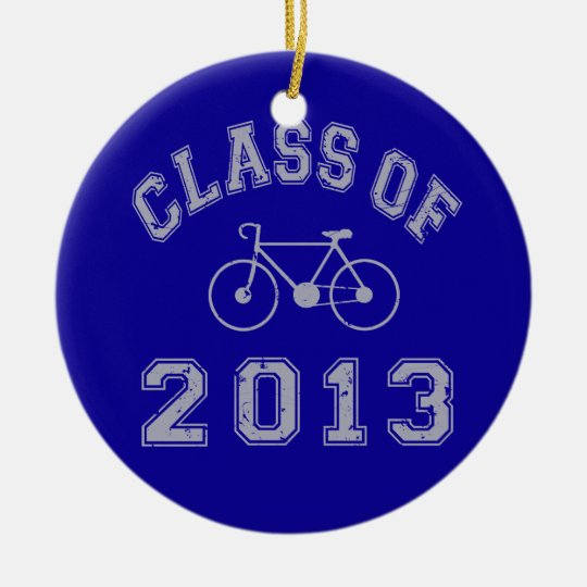 Class Of 2013 Cyclist Ceramic Ornament