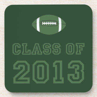 Class Of 2013 Football - Green 1 Drink Coasters