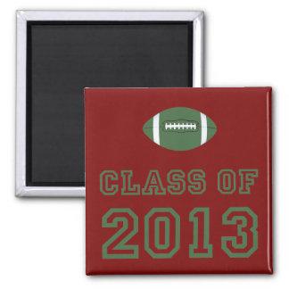 Class Of 2013 Football - Green 1 Fridge Magnet