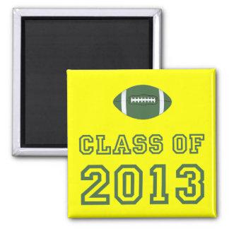 Class Of 2013 Football - Green 1 Refrigerator Magnet