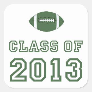 Class Of 2013 Football - Green 1 Sticker