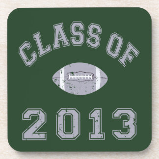 Class Of 2013 Football - Grey 2 D Beverage Coasters